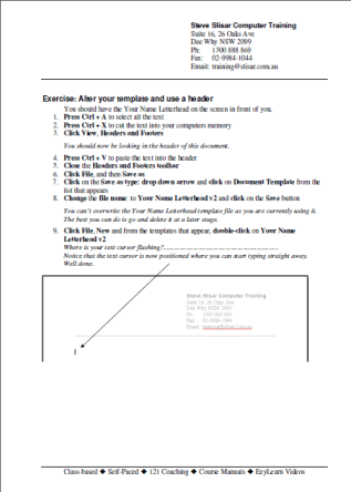 Microsoft Word Training Course Workbook 206