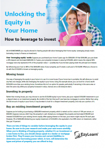Unlock Equity in your Sydney or Melbourne Property to invest in Newcastle NSW