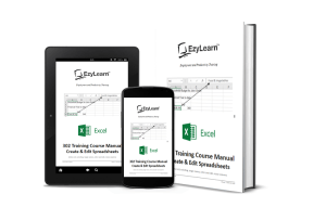 Microsoft Excel Beginners Training Course Manual, Workbook & Practice Exercise files - 302 Create and Edit Spreadsheets