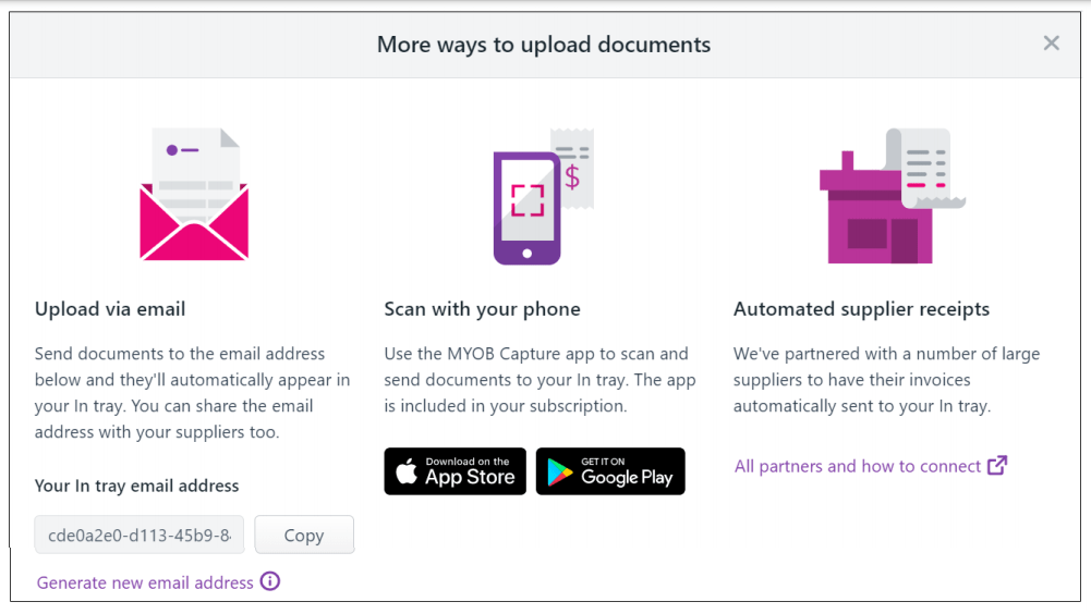 Learn how to upload tax invoices and receipts to MYOB Essentials using MYOB Intray and Capture App - EzyLearn Online Training Courses