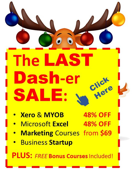 EzyLearn Online Courses - The LAST Dash-er SALE - Cheap Xero, MYOB, Excel, Facebook Ads