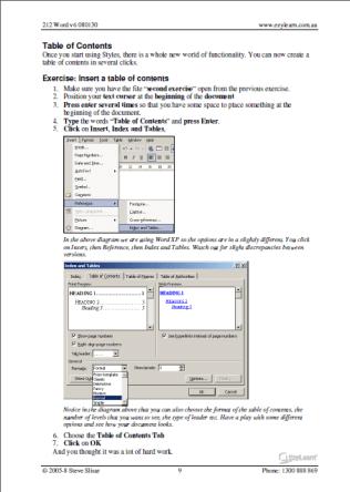 Microsoft Word Training Course Workbook 212