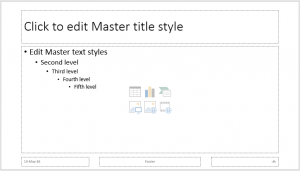 Microsoft PowerPoint 2016 slide master templates in online training courses