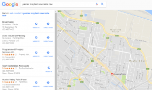 Digital Strategy & Social Media Marketing Course - Google Maps to find a painter in Mayfield Newcastle NSW
