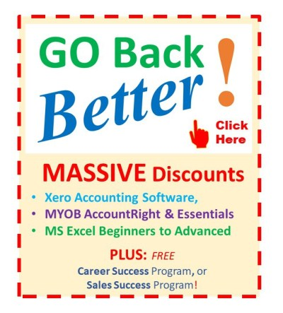 EzyLearn Online Courses - SPECIAL OFFERS, cheap, discounted, vouchers and coupons for Excel, MYOB, Xero Courses ad