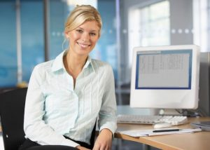 business woman learning new xero bookkeeping skills with online training course