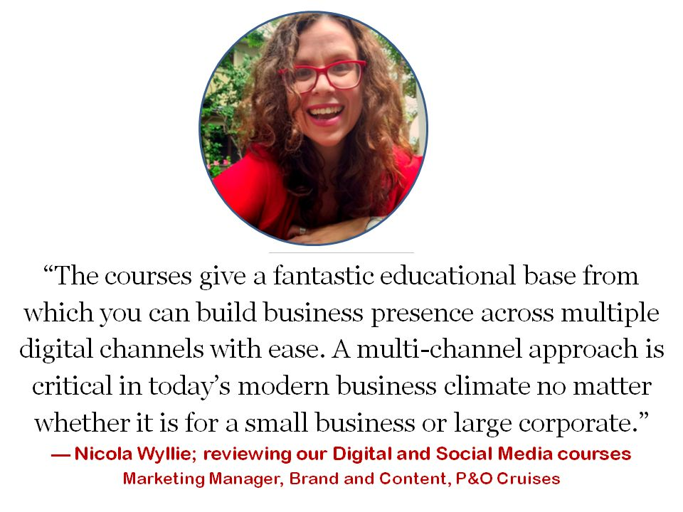 testimonial for digital and social media online training course study