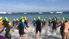 Brice au départ de la natation