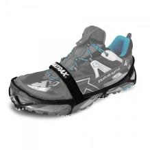 Chaussures équipées des crampons Yaktrax de chez Raidlight