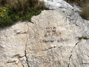 Sentier difficile de la montagne Sainte Victoire