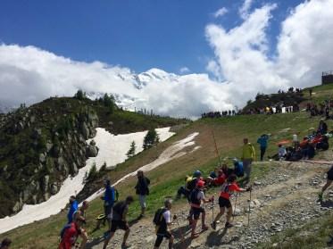 L'arrivée du Marathon du Mont Blanc