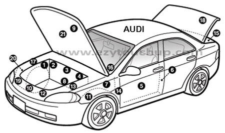 Audi Color Code Location, Audi, Free Engine Image For User