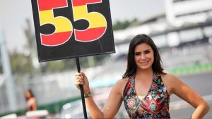Grid girl-2, Rd17, Mexican Grand Prix, Circuit Hermanos Rodriguez, Mexico City, Mexico, 2015