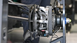 Mercedes-Benz F1 W07 Hybrid front brake and wheel hub detail at Formula One World Championship, Rd2, Bahrain Grand Prix Preparations, Bahrain International Circuit, Sakhir, Bahrain, Thursday 31 March 2016. © Sutton Motorsport Images