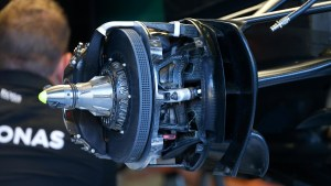 Mercedes-Benz F1 W07 Hybrid front brake and wheel hub at Formula One World Championship, Rd13, Belgian Grand Prix, Preparations, Spa Francorchamps, Belgium, Thursday 25 August 2016. © Sutton Images