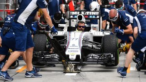 Williams practice pit stops at Formula One World Championship, Rd16, Malaysian Grand Prix, Preparations, Sepang, Malaysia, Thursday 29 September 2016. © Sutton Images