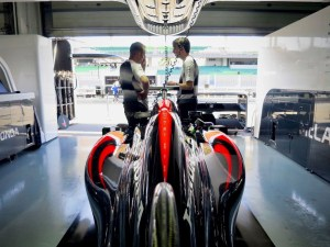 pic-4 McLaren MP4-31 in pit lane at Formula One World Championship, Rd16, Malaysian Grand Prix, Sepang, Malaysia, September 2016. © McLaren Honda