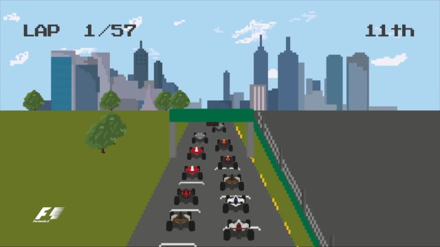 The F1 Story Of 2016: 8-Bit, Video-Game-Style! / Here's how 2016 might have looked in the old-school world of 8-Bit video games... © formula1.com