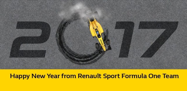Happy New Year from Renault Sport Formula One Team © Renault Sport Formula One Team