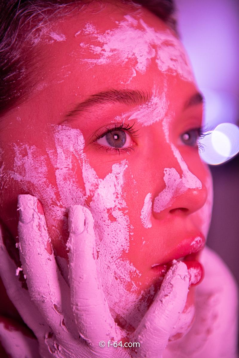 boudoir photography sacramento glitter paint 7