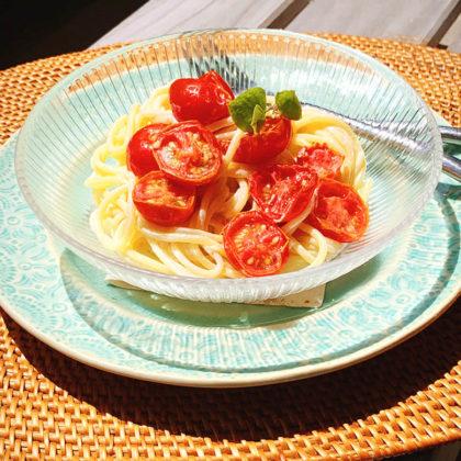 ドライトマトのクリ―ムチーズパスタ