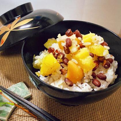 栗と芋の小豆ご飯