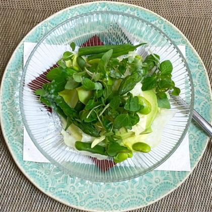アスパラガスのグリーンサラダ