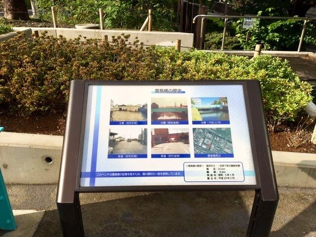 豊島橋の歴史案内版