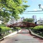 【八幡堀遊歩道】日本最古の鉄橋がある富岡2丁目の公園