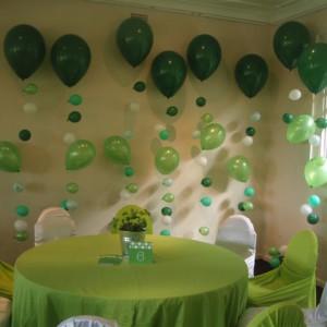 Balonková dekorace green