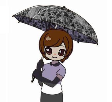 日傘男子?