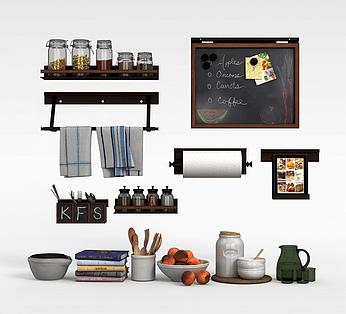kitchen sideboards simple cabinets 餐具柜3d模型 餐具柜3d模型下载 3d学苑 厨房餐具