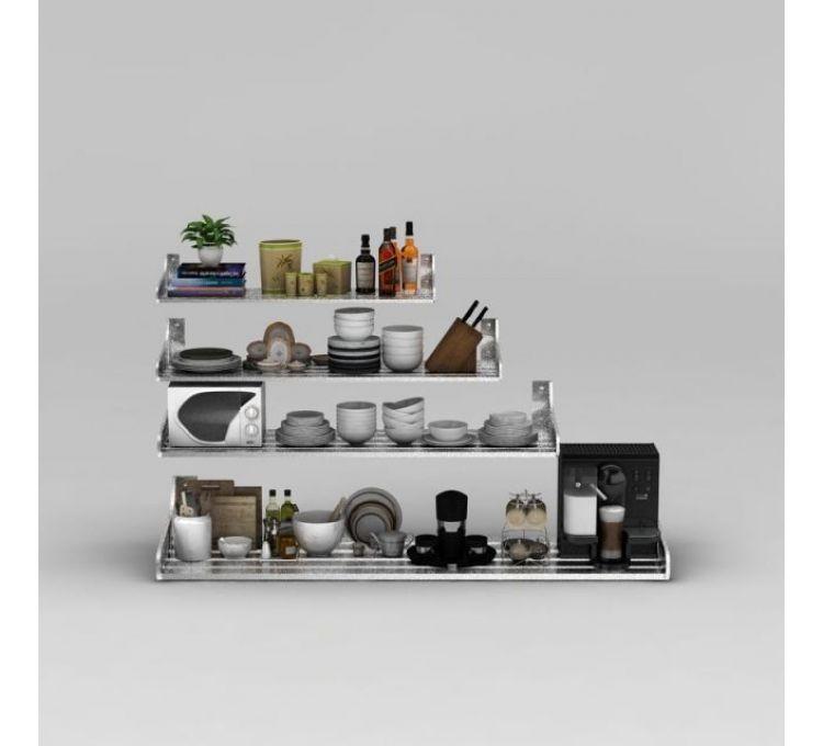 kitchen shelf bistro set 3d厨房架子模型 厨房架子3d模型下载 3d厨房架子模型免费下载 厨房架子模型
