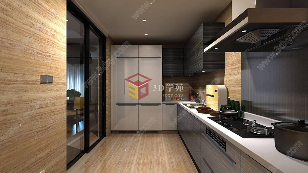 model kitchens hide kitchen trash can 3d厨房一角模型 厨房一角3d模型下载 3d学苑 关键词 家装3d模型 厨房3d模型