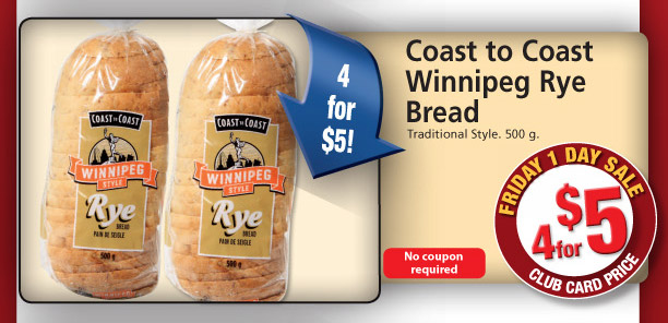 Coast To Coast  Winnipeg Rye Bread