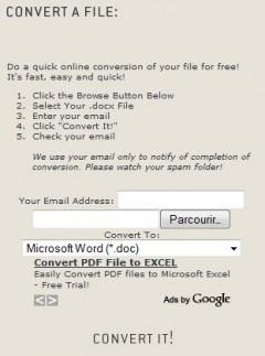 Convertir un fichier docx en doc : docx converter - BDM