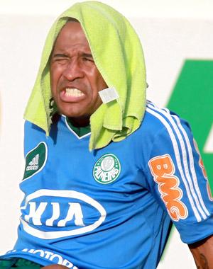 O volante Marcos Assunção, durante treino do Palmeiras