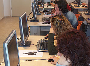 Usuários acessam computador; compras on-line cresceram 21% no semestre