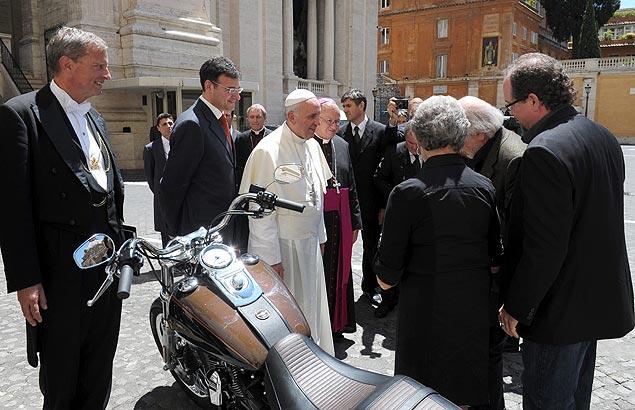 A Harley Davidson que o papa de herdeiro da fabricante norte-americana de motocicletas