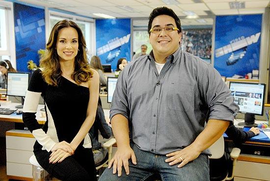 """Ana Furtado e André Marques apresentam o """"Vídeo Show"""" diretamente da redação"""