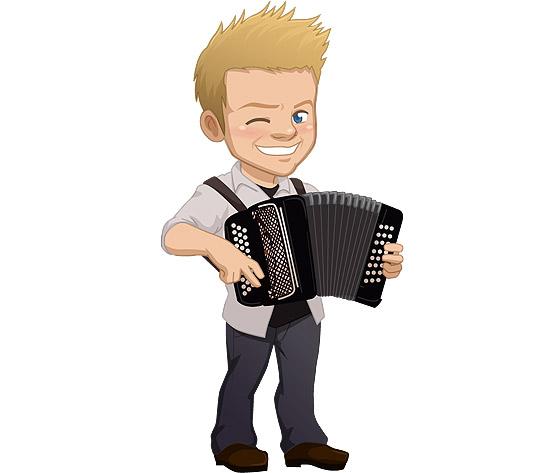 A versão virtual do cantor sertanejo Michel Teló