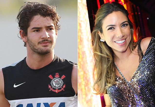 O jogador Alexandre Pato, do Corinthians, e a apresentadora Patrícia Abravanel, filha de Silvio Santos