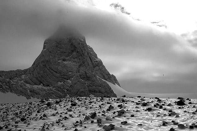Nuvens sobre a região de Patriot Hills, na Antártida