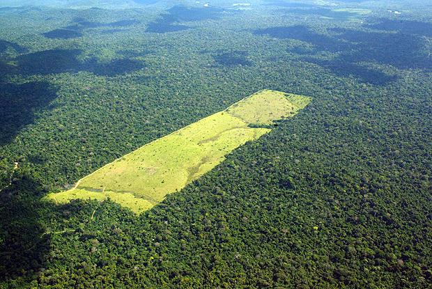 Área desmatada em Moraes Almeida, no Pará