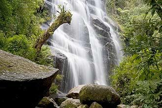 Entre as atrações da parte baixa do Itatiaia estão a cachoeira Véu de Noiva, a pedra fundamental e a mata atlântica preservada