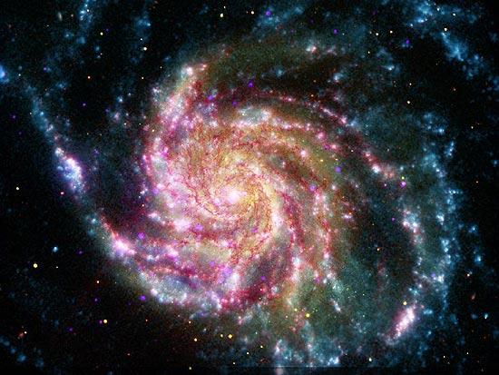 Foto da galáxia Catavento, que se encontra em constelação a 21 milhões de anos-luz da Terra
