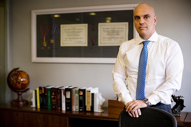 O secretário da Segurança Pública, Alexandre de Moraes, que defende pena mais dura para adolescentes infratores