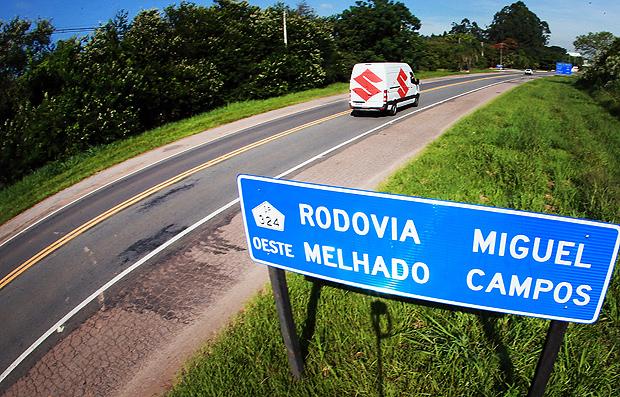 Rodovia Miguel Melhado Campos, em Vinhedo, deverá ganhar praça de pedágio
