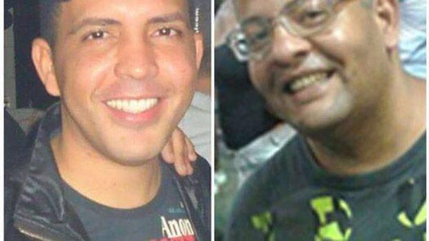 Corpo de Edivaldo Silva de Oliveira (à dir.) foi identificado; Jeovan Bandeira foi visto pela última vez com Oliveira