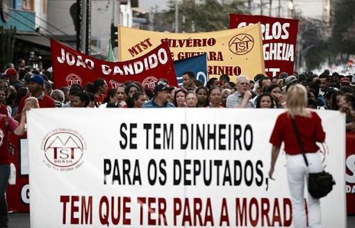 MTST faz manifestação em Pinheiros. Está é uma das 7 ações do grupo hoje